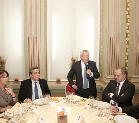Rosa Conde, Ángel Torres, Carlos Solchaga, Ignacio Polanco y Borja Baselga