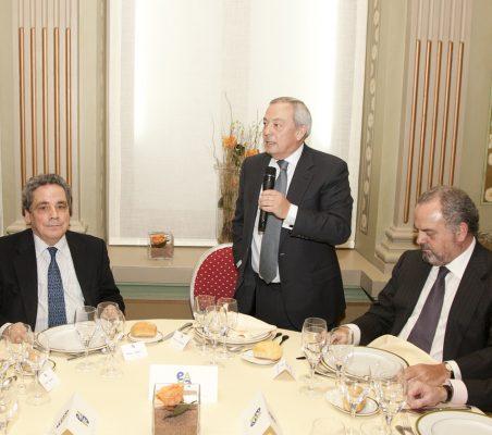 Ángel Torres, Carlos Solchaga y Ignacio Polanco