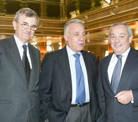 Roberto Cuñat, Antonio Gracia y Carlos Solchaga