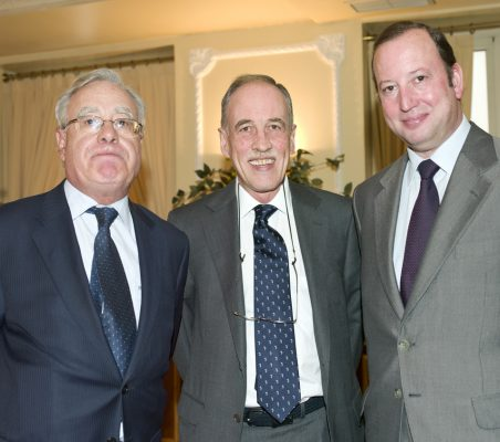 Ángel Bizcarrondo, Luis García Linares y Félix Losada