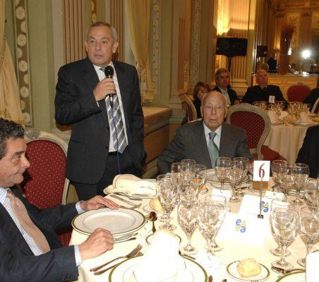 Augusto Delkáder, Carlos Solchaga, Jesús de Polanco y Florentino Pérez