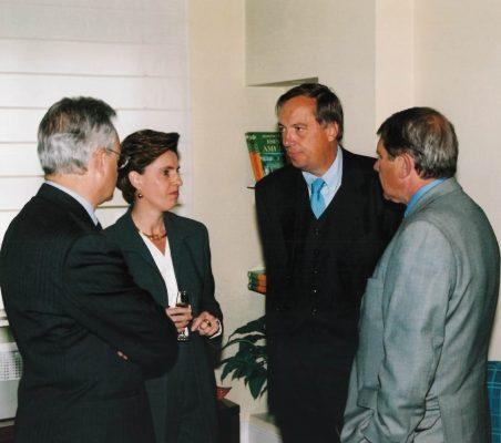 Ángel Durández, Leonor Ortiz Monasterio, Carsten Moser y Javier Baviano