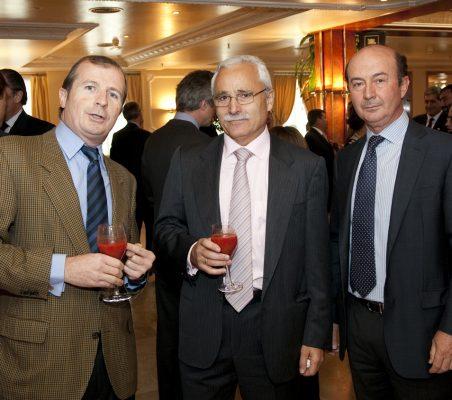 Rafael Guardans, José Eladio Seco, y Miguel Iraburu
