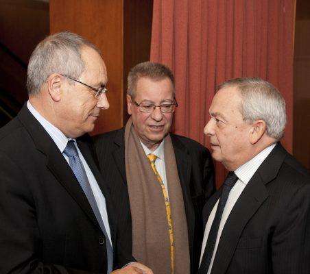 Domingo Ureña, Jacinto García Palacios y Carlos Solchaga