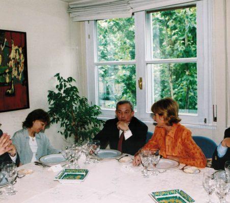 Flora Peña,Carlos Solchaga, Esperanza Aguirre y Carsten Moser