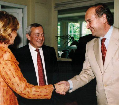 Esperanza Aguirre, Carlos Solchaga y Miguel Vergara