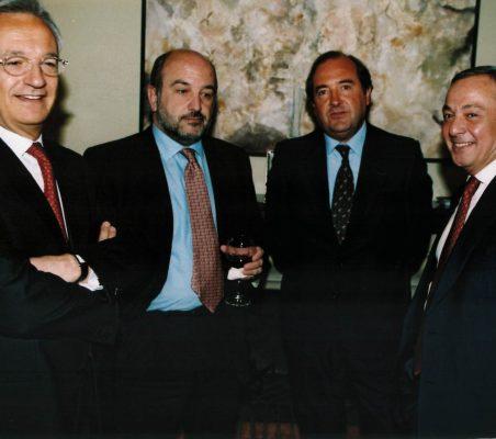 Ángel Durández, Joaquín Almunia, y Carlos Solchaga