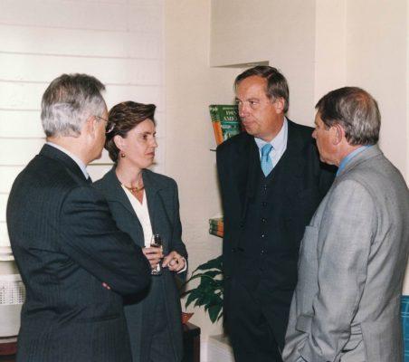 Ángel Durández, Leonor Ortiz Monasterio, Carsten Moser, y Javier Baviano