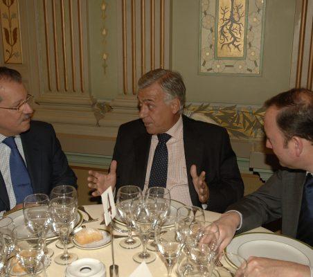 Jorge Salaverry, Antonio Gracia y Félix Losada