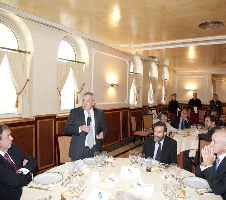 Juan Badosa, Carlos Solchaga, Guillermo de la Dehesa y Emilio Gilolmo