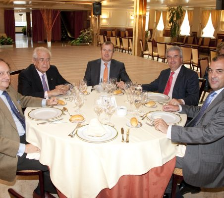 Carlos Gereda, Adolfo Favieres, Rafael Guardans, Gonzalo Babé y José António Silva e Sousa