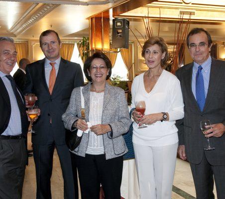 Ramón Reyes, Rafael Guardans, Pilar Zugaza, Gloria Barba y Joaquín de la Herrán