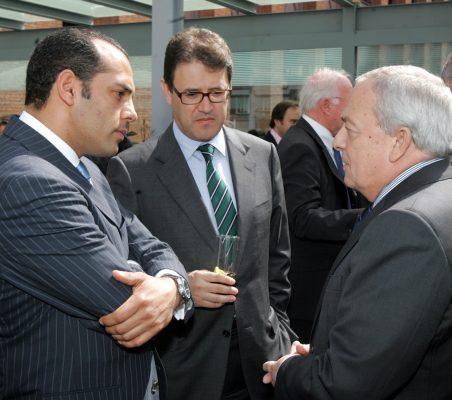 Juan Verde, José Antonio Llorente y Carlos Solchaga