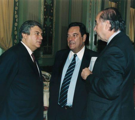 Embajador Abel Parentini Posse y Miguel Vergara