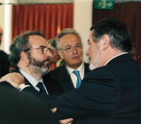 Jon Juaristi, Ángel Durández y Jaime Mayor Oreja