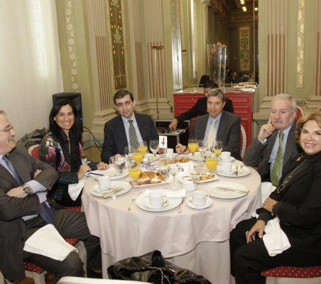 Francisco Fonseca, Cristina Amor, Carlos Moreiro, José L. García Delgado, Álvaro Espina, Mª Jesús Escribano