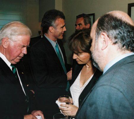 Kurt Biedenkopf con Flora Peña y Joaquín Almunia
