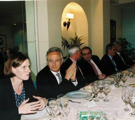 Heike Göbel y Ángel Durández