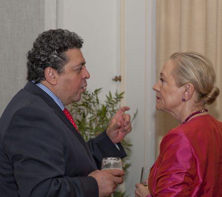 Raúl Felix Díaz y Benita Ferrero-Waldner