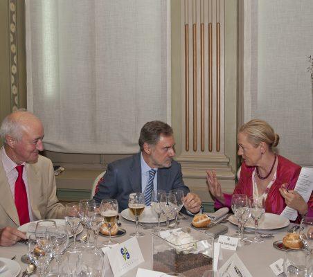 Emilio Gilolmo,  Manuel Méndez del Río y Benita Ferrero- Waldner
