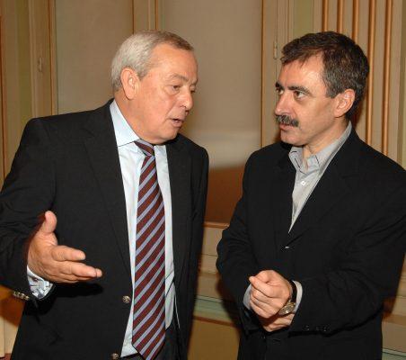 Carlos Solchaga y Manuel Borja Villel