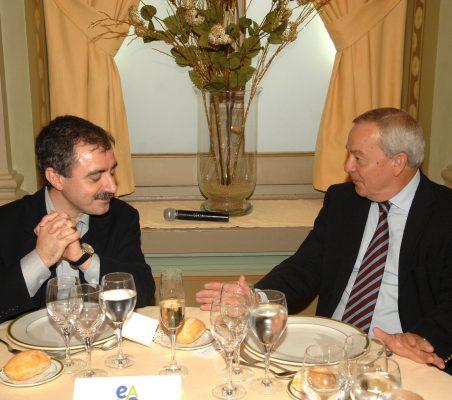 Manuel Borja Villel y Carlos Solchaga