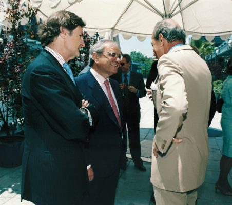 Ricardo Martí Fluxá, Rodolfo Martín Villa y Embajador Raniero Vanni D'Archirafi