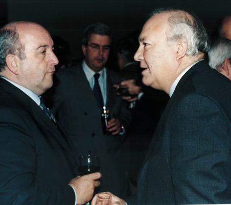 Joaquín Almunia, Gonzalo Babé y Miguel Ángel Moratinos