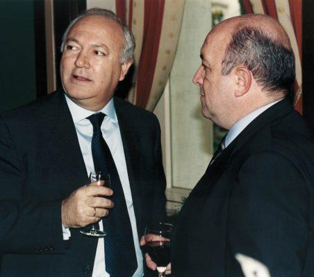 Miguel Ángel Moratinos  y Joaquín Almunia