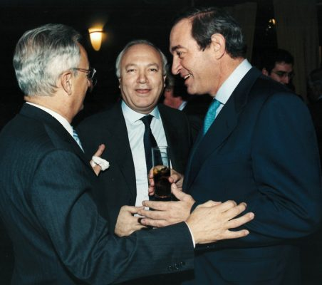 Ángel Durández, Miguel Ángel Moratinos y Claudio Boada