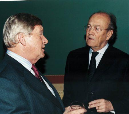 Embajador de los Países Bajos y Javier Ramiro