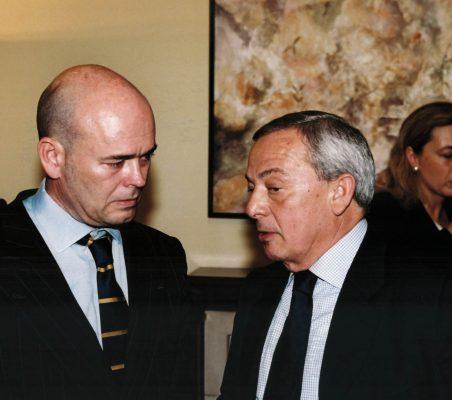 Fernando Villalonga y Carlos Solchagha