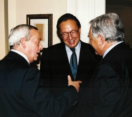 Carlos Solchaga, Pedro Malán y Dominique Strauss Khan