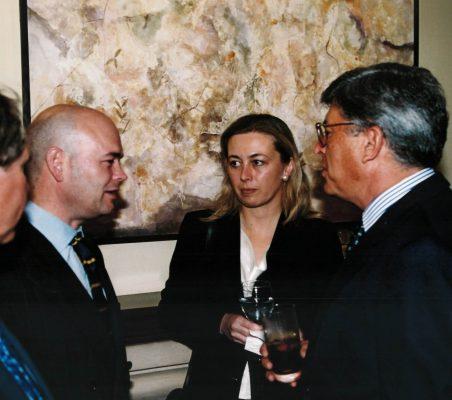 Fernando Villalonga, Marta Amusátegui y Carlos Moreira