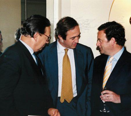 Pedro Malan, Claudio Boada y Jorge Moran