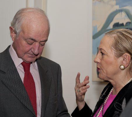 Emilio Gilolmo y Benita Ferrero-Waldner