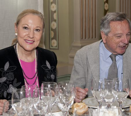 Benita Ferrero-Waldner y Rafael Moneo