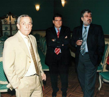 Carlos  Solchaga , José luis Escrivá y José Juan Ruiz