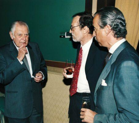 Patricio Aylwin, Emilio Cassinello y Francisco de Bergia