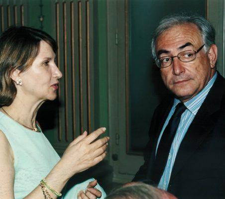 Asunción Valdés y Dominique Strauss-Kahn