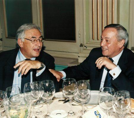 Dominique Strauss-Kahn y Carlos Solchaga
