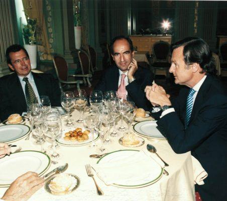 Santiago Martínez Lage, José Luis Palomo y Ricardo Martí Fluxá