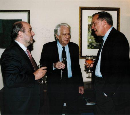 Joaquín Almunia, Jorge Semprún y Carsten Moser