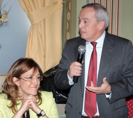 Soraya Rodríguez y Carlos Solchaga