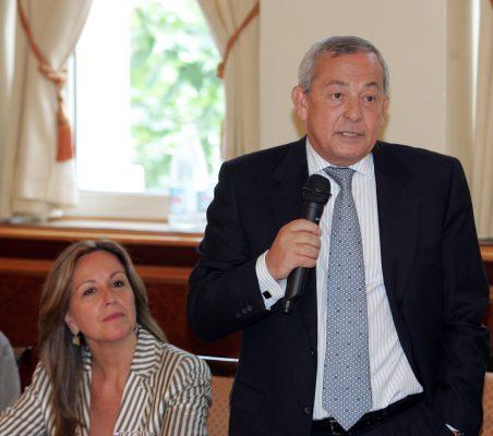 Trinidad Jiménez y Carlos Solchaga