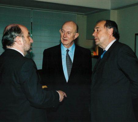 Joaquin Almunia, Ricardo Díez Hochleítner y Miguel Vergara