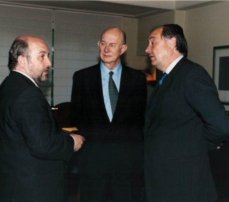 Joaquín Almunia, Ricardo Díez Hochleítner y Miguel Vergara