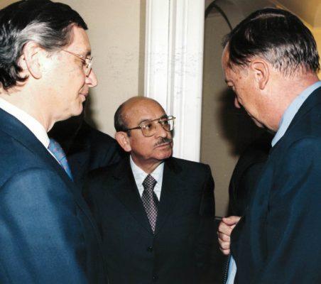 Carlos Pareja, Valentín Paniagua y Carsten Moser