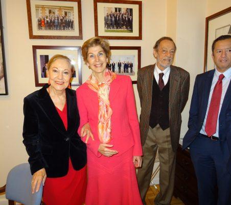 Benita Ferrero-Waldner, Carolina Barco, Emilio Cassinello y David Tuesta