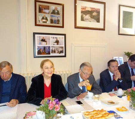 Carsten Moser, Benita Ferrero-Waldner, Ángel Durández, David Tuesta y Fabio Pellicer